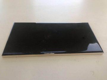 SUBWAY TILES BLACK 100 × 200 MM